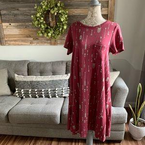 Lularoe Carly Arrow Print Swing Dress